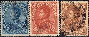 Venezuela  #74-78   Used