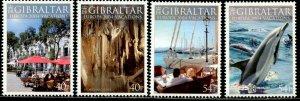 GIBRALTAR Sc#960-963 2004 Europa Vacations Complete Set OG Mint Hinged