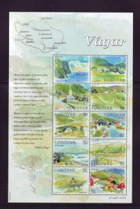 Faroe Islands Sc 453 2005 Vagar Island stamp sheet mint NH