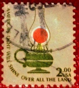 USA   1611 – 1978 $2 Americana Series: Kerosene Lamp used XF