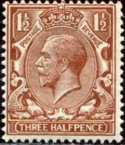 SG365 SPEC N18(11), 1½d deep yellow-brown, NH MINT. Cat £125.