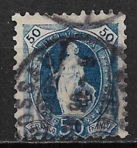 1882 Switzerland Sc86  50c Standing Helvetia used SCV$27.50