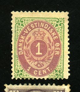 DANISH W INDIES #5B MINT AVE-FINE OG LG HR Cat $45