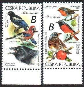Czech Republic. 2020. 1065-66. Birds, fauna. MNH.