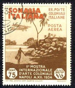 Somalia Sc# C3 Used 1934 75c Air Post