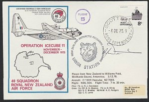 NEW ZEALAND ROSS DEPENDENCY 1975 signed flight cover ex Scott Base..........H707