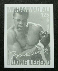 Austria Boxing Legend 2006 Sport (imperf black print stamp) MNH