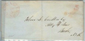 72337  - UNITED STATES USA - PREPHILATELIC Cover: LANCASTER, NH 1845 - 5