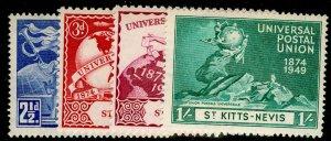 ST KITTS-NEVIS SG82-85, COMPLETE SET, VLH MINT. UPU