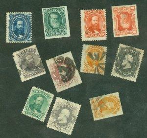 selection Brazil 1866-79 53//72 mint/used/no gum CV $287