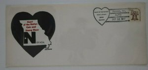 Heart of the Nation Coin & Stamp Show Nevada 1977 Philatelic Expo Cachet Cover
