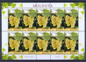Moldova 2013 Plants Grape 10 MNH stamp Full sheet