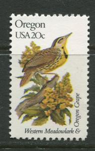 USA - Scott 1989 - State Birds & Flowers - 1982 - MNG - Single 20c Stamp
