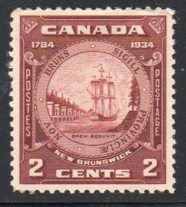 Canada Sc 210 1934 2c New Brunswick stamp mint
