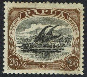 PAPUA 1907 LAKATOI 2/6 WMK SIDEWAYS PERF 11