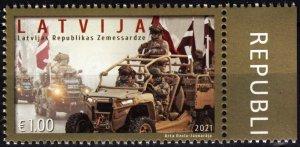 LATVIA 2021-14 MILITARY: National Guard of Latvia - 30. Vehicles, Flags, MNH