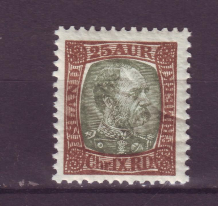 J12492 JLstamps 1902-4 iceland mnh #41 king