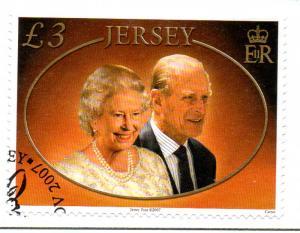 Jersey Sc 1296 2007 Diamond Wedding QE II stamp used