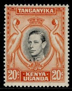 KENYA UGANDA TANGANYIKA GVI SG139b, 20c black & orange, M MINT.