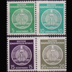 DDR 1956 - Scott# O18-22a Granite Paper 20p NH