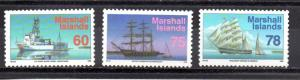 Marshall Islands 458-460 MNH