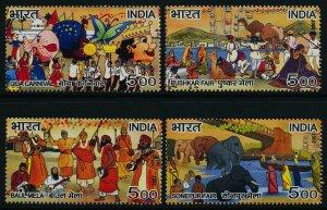 India 2185-8 MNH Fairs, Elephant, Camel, Music