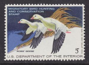 US Sc RW44 MNH. 1977 $5 Ross' Geese Duck Stamp, VF