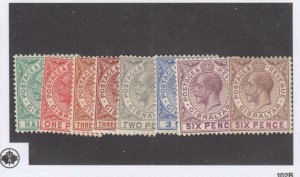 GIBRALTA # 76-82 VF-MH KGV ISSUES TO 6p CAT VALUE $40+
