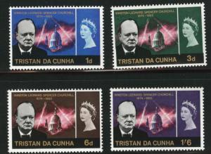 Tristan da Cunha Scott 89-92 MH* Churchill Memorial set 1966