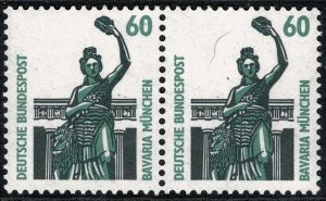 GERMANY 1987-96 60 pf TOURIST SIGHTS PAIRS STAMP(S)SG2209 MINT (NH) SUPERB