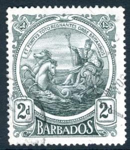 BARBADOS-1916-09 2d Grey Sg 184 FINE USED V19513