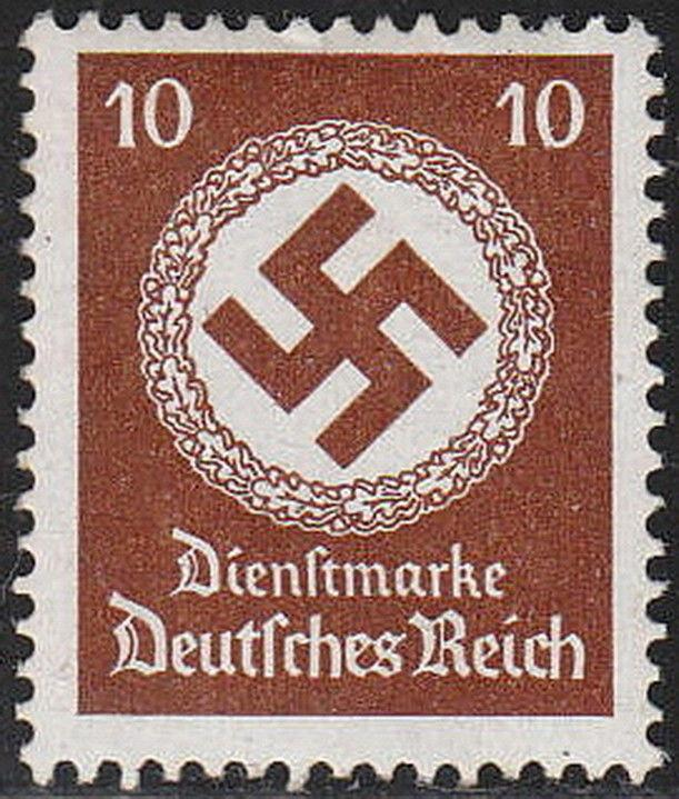Stamp Germany Official Mi 137 Sc O85 1934 WWII Dienst Nazi 3rd Reich Nazi Era MH