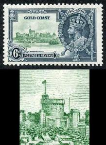 Gibraltar SG116a 1935 Silver jubilee 6d Variety Extra Flagstaff M/M