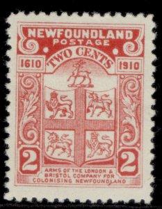 CANADA - Newfoundland EDVII SG96, 2c rose-carmine, M MINT. Cat £27. PERF 12