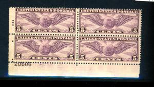 US #C16 MINT Plate Block F-VF OG NH Cat$95