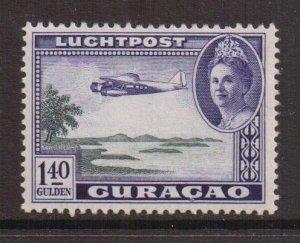 Netherlands Antilles  Curacao  #C29  MH  1942   AIR  Wilhelmina  1.40g