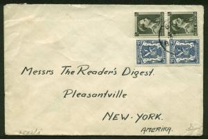 WWII GERMAN CENSORED COVER BELIGUM TO NEW YORK--WW2 GERMANY CENSOR COVER