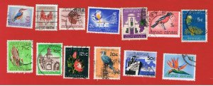 South Africa #254-266  VF used  Various Scenes  Free S/H