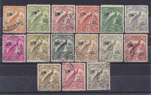 NEW GUINEA 1932 Undated Bird Airmail set ½d - £1