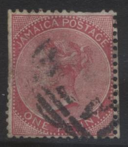 Jamacia - Scott 18 - QV Head -1885 - FU -  Single  1p Stamp