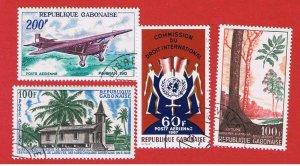 Gabon #C50-59-60-62  VF used    Air Post   Free S/H