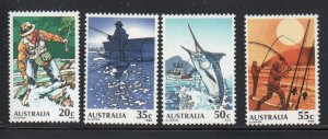 Australia Sc 722-25 1979 Sport Fishing  stamp set mint NH