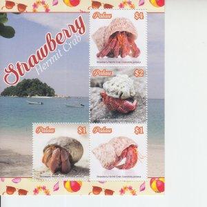 2019 Palau Strawbwrry Hermit Crab MS4 (Scott NA) MNH