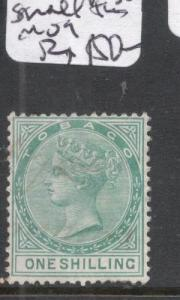 Tobago SG 4 QV 1/- Small Thin 400 GBP Catalog MOG (5dgs)