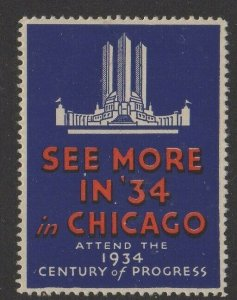 USA 1934 World's Fair See More in '34 in Chicago A Century of Progress MLH OG