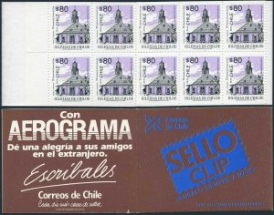 Chile 1093a booklet,MNH.Michel 1593 D/D MH. Church Quinchao,1994.