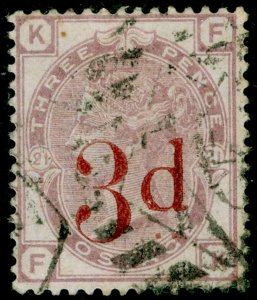 SG159, 3d on 3d lilac plate 21, USED. Cat £160. FK