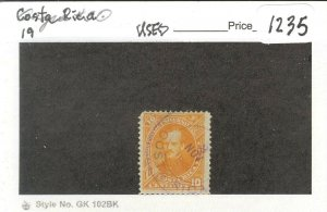 s1235 stamp Costa Rica Scott 19 SCV 12.00