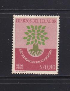 Ecuador 656 Set MH World Refugee Year (C)