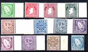 Ireland 1922-3 Scott 65-76 Definitives Monogram wmk MNH